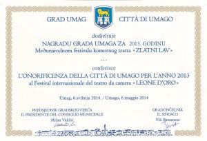 Nagrada Grada Umaga
